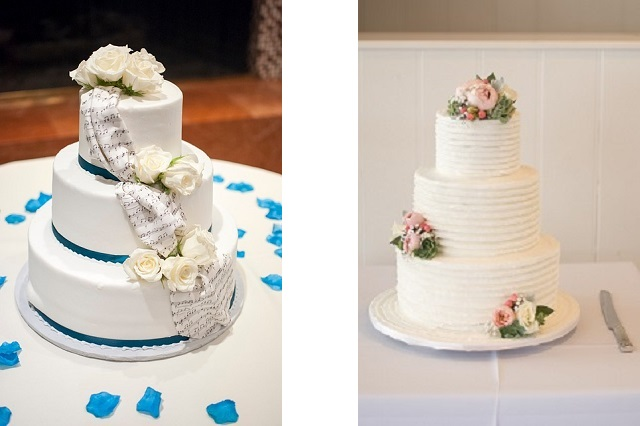 Ad esempio per una torta a più piani decorate con mini bouquet da riporre  su di ogni singolo pano. In ogni caso affidatevi ai consigli di un esperto