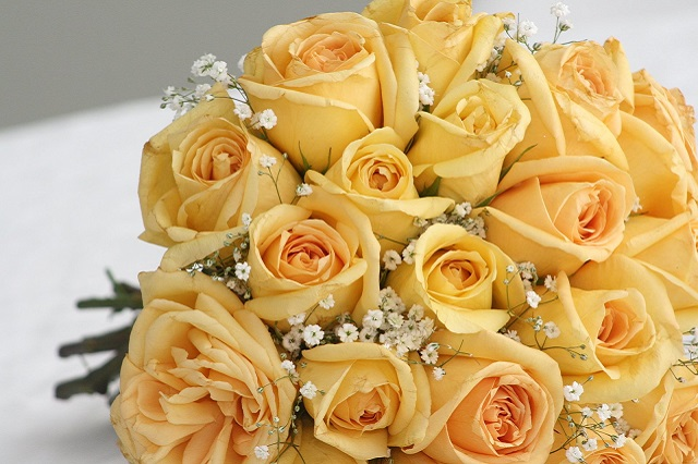 bouquet sposa giallo