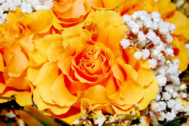 bouquet arancione