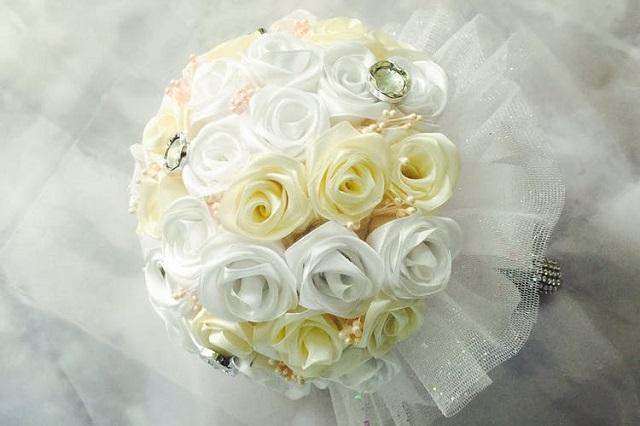 bouquet di fiori di stoffa 1