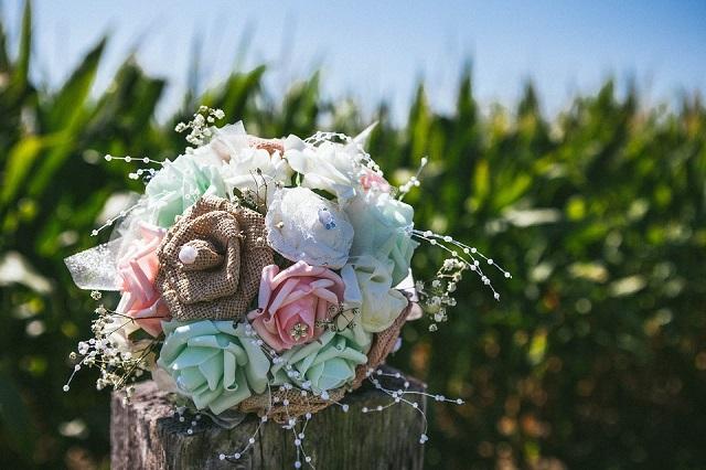 bouquet fiori di stoffa 2