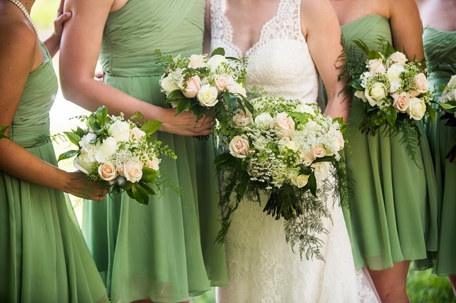 Matrimonio In Bianco : Nozze in bianco e verde