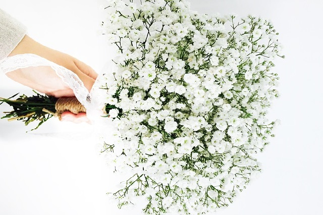 gypsophila-bouquet sposa